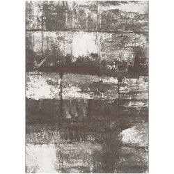 Meticulously Woven Grey Satay Abstract Rug (7'10 x 10')
