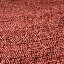 Hand-woven Red Espo Natural Fiber Jute Rug (9' x 13')