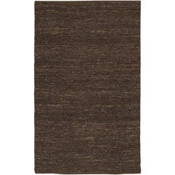 Hand-Woven Brown Natural Fiber Jute 'Tyrn' Rug (8' Square)