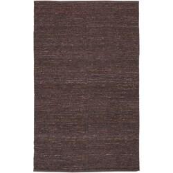 Hand-woven Aubergine Gali Natural Fiber Jute Rug (9' x 13')