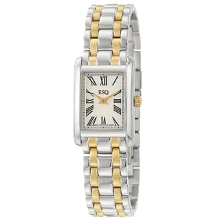 ESQ by Movado Women's 'Filmore' Yellow Goldplated Steel Quartz Watch