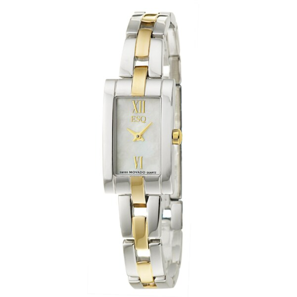 ESQ by Movado Women's 'Linque' Yellow Goldplated Steel Quartz Watch
