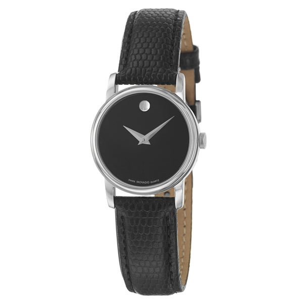 Movado Women's 2100004 'Collection' Stainless Steel and Leather Quartz Watch