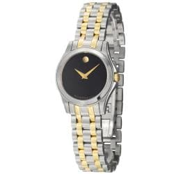 Movado Women's 'Corporate Exclusive' Yellow Goldplated Steel Quartz Watch