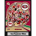 2011 San Francisco 49ers 9 x 12 Team Plaque