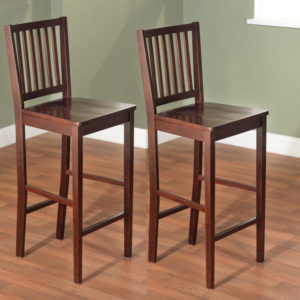 Simple Living 30-inch Shaker Bar Stools (Set of 2)