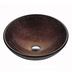 Kraus Copper Callisto 12-mm Thick Glass Vessel Sink with PU-MR Chrome