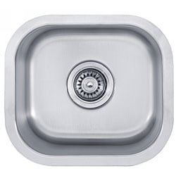 Kraus 15 inch Undermount Single Bowl 18 gauge Stainless Steel Kitchen Sink