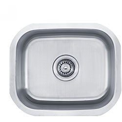 Kraus 18 inch Undermount Single Bowl 18 gauge Stainless Steel Kitchen Sink