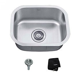 Kraus 18 -inch Undermount Single Bowl Steel Kitchen Sink