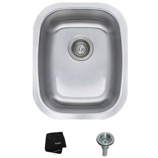 Kraus 18 -inch Undermount Single Bowl Steel Kitchen Sink