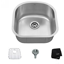 Kraus 20 inch Undermount Single Bowl 16 gauge Stainless Steel Kitchen Sink