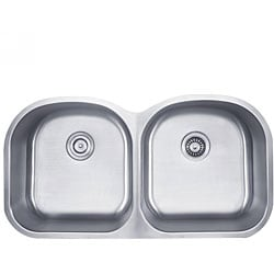 Kraus 39 inch Undermount 50/50 Double Bowl 16 gauge Stainless Steel Kitchen Sink
