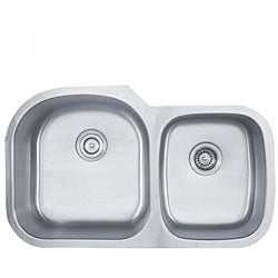 Kraus 35 inch Undermount 55/45 Double Bowl 16 gauge Stainless Steel Kitchen Sink