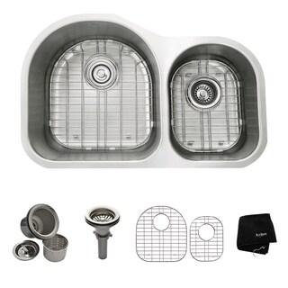 Kraus 32 -inch Undermount 60/40 Double Bowl Steel Kitchen Sink