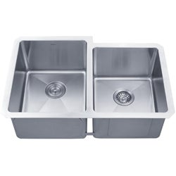 Kraus 32 -inch Undermount 50/50 Double Bowl Steel Kitchen Sink