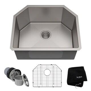 Kraus 23 inch Undermount Single Bowl 16 gauge Stainless Steel Kitchen Sink
