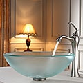 Kraus Bathroom Combo Set Frosted Glass Vessel Sink/Faucet