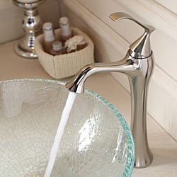 Kraus Bathroom Combo Set Broken Glass Vessel Sink/Faucet