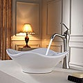 Kraus Bathroom Combo Set White Tulip Ceramic Sink and Ventus Faucet