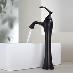 Kraus White Square Ceramic Sink and Ventus Faucet Oil Rubbed Bronze