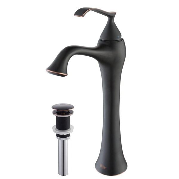 Kraus Ventus Single Lever Vessel Faucet withPop Up Drain