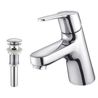 Kraus Ferus Single Lever Bas-inch Faucet/ Pop Up Drain withOverflow Chrome