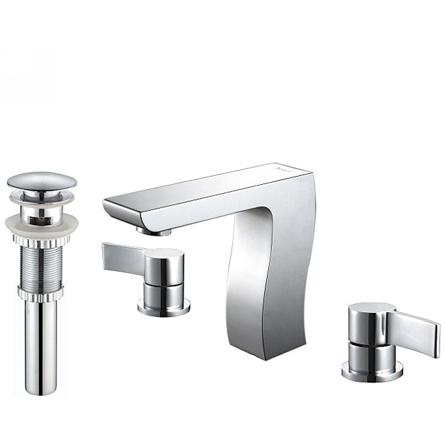 Kraus Sonus Three-hole Bas-inch Faucet/ Pop Up Drain with Overflow Chrome