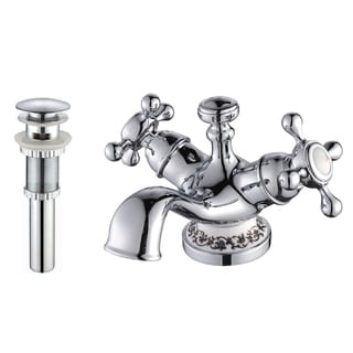 Kraus Apollo Single-hole Basin Faucet and Pop Up Drain with Overflow Chrome