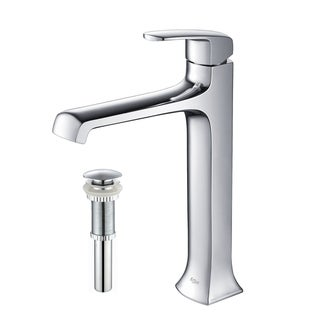 Kraus Decorum Single Lever Vessel Faucet with Pop Up Drain Chrome
