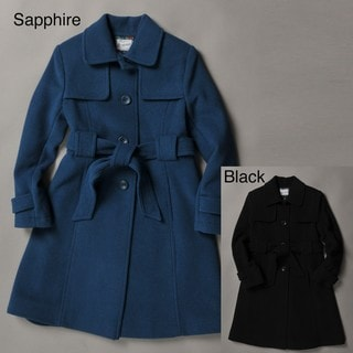 Rothschild Big Girls Wool Belted Trench Coat