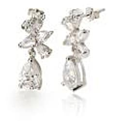 Collette Z Sterling Silver Cubic Zirconia Dangle Earrings