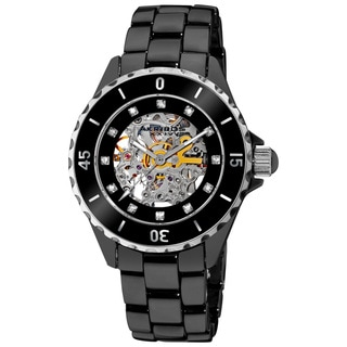 Akribos XXIV Women's Midsize Ceramic Automatic Watch