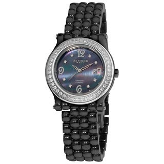 Akribos XXIV Women's Diamond Ceramic Bracelet Watch