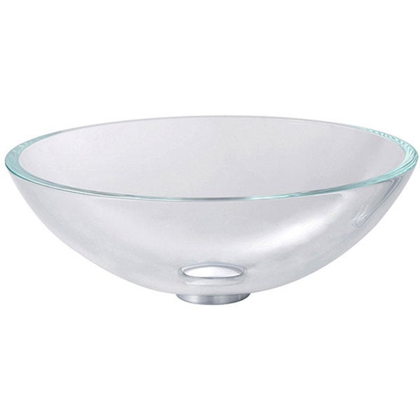 Kraus Crystal Clear 12-mm Thick Glass Vessel Sink