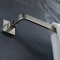 Kraus Aura Brushed Nickel 600mm Towel Bar