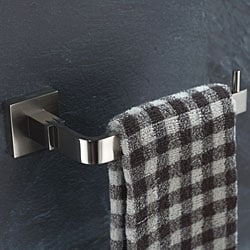 Kraus Aura Bathroom Accessory Tissue Holder- No Cover Brushed Nickel
