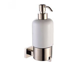 Kraus Aura Brushed Nickel Wall-mounted Ceramic Lotion Dispenser
