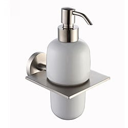 Kraus Imperium Brushed Nickel Wall-mounted Ceramic Lotion Dispenser