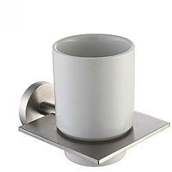 Kraus Imperium Brushed Nickel Wall-mounted Ceramic Tumbler Holder