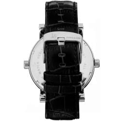Joshua & Sons Men's Dual-time Black Circle Watch