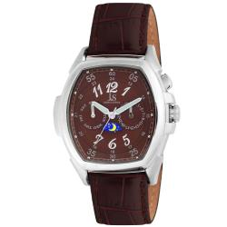 Joshua & Sons Men's Multifunction Day/ Date Swiss Steel Strap Watch