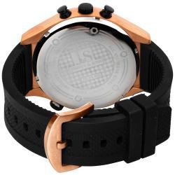 Polyurethane Joshua & Sons Men's Dual Time Quartz Chronograph Steel Strap Watch