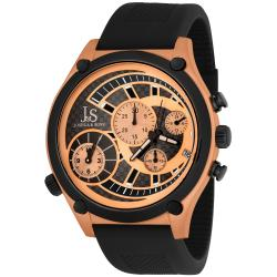 Polyurethane Joshua & Sons Men's Dual Time Quartz Chronograph Steel Strap Watch