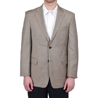 Tommy Hilfiger Men's Trim Fit Tan Sharkskin Suit Jacket