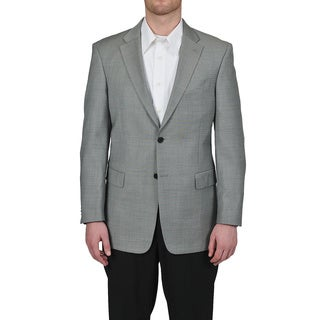 Tommy Hilfiger Men's Trim Fit Gray Sharkskin Suit Jacket