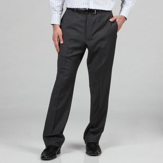 Tommy Hilfiger Men's Trim Fit Grey Slim Stripe Wool Dress Pants