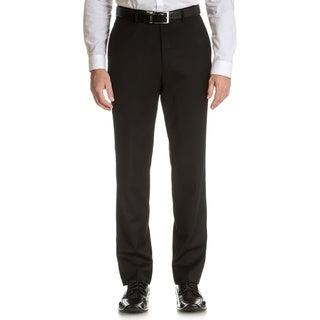 Tommy Hilfiger Men's Trim Fit Black Wool Dress Pants