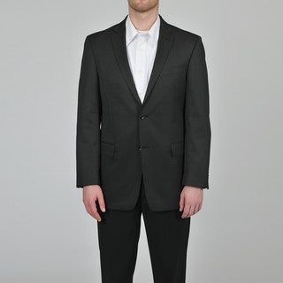 Marc Ecko Men's Trim Fit Black Pindot Suit Jacket