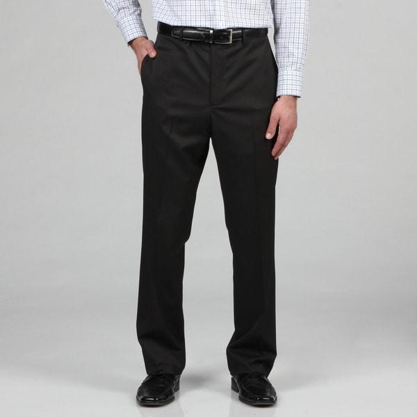Marc Ecko Men's Trim Fit Black Pindot Dress Pants
